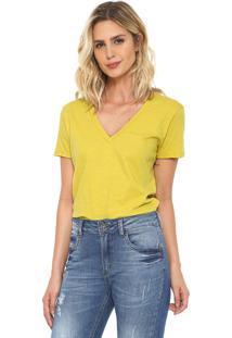 Camiseta Oh Boy Básica Amarela