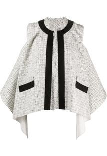 Sacai Jaqueta De Tweed - Branco