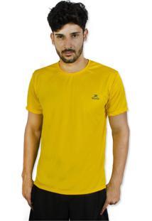 Camisa Muvin Manga Curta Running Amarelo