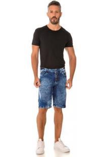 Bermuda Jeans Express Jean Masculina - Masculino-Azul