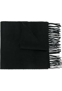 Pringle Of Scotland Cachecol Liso De Cashmere - Preto