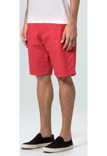 Bermuda Casual Masc Alfaiataria-Vermelho - 38
