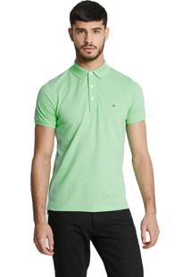 Polo Tommy Hilfiger Masculina Slim Fit Spring Bud