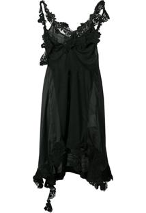 Sacai Slip Dress Assimétrico - Preto