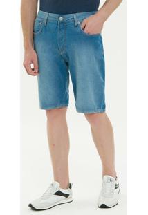 Bermuda Jeans Five Pockets - Azul Claro - 44
