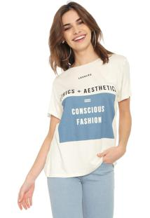 Camiseta Lez A Lez Lettering Off-White