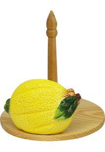Suporte Papel Toalha De Cerâmica Aden 17X16X23Cm - Linha Lemons