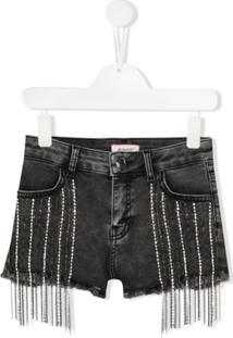 Pinko Kids Embellished Shorts - Cinza