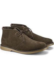 Bota Kildare Desert Boot Solado Borracha Masculina - Masculino-Marrom Escuro