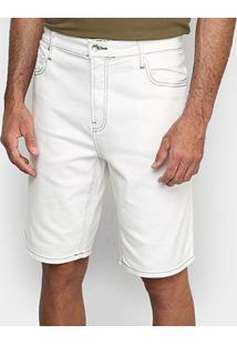 Bermuda Jeans Lacoste Live Masculina - Masculino-Off White
