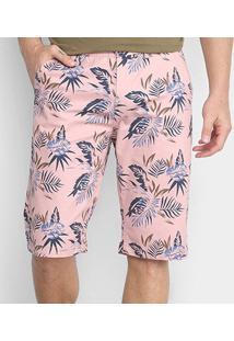 Bermuda Watkins&Krown Sarja Floral Masculina - Masculino