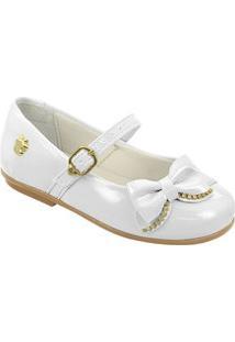 Sapato Infantil Verniz Laço Pé Com Pé 29206