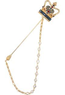Dolce & Gabbana Crown Pin - Dourado