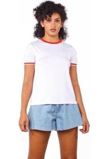 Camiseta Lunender Feminina - Feminino-Branco