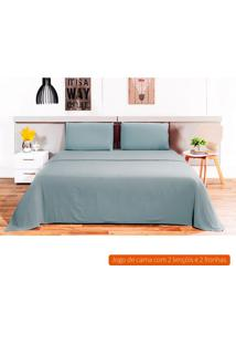 Jogo De Cama Queen Loft Azul 240X260 Cm