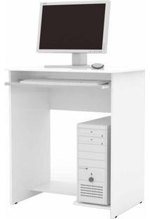 Mesa De Computador Prática Branco- Ej Móveis