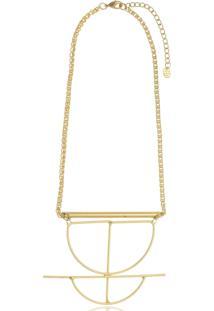 Colar Le Diamond Maia Geométrico Dourado - Tricae