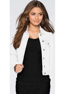 Jaqueta De Sarja Branca