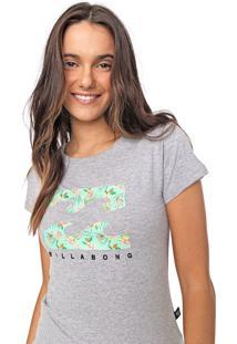 Camiseta Billabong Lush Basic Cinza