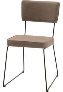 Cadeira Milan Bege Base Preta - 55890 - Sun House