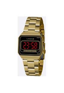 Relógio Feminino Digital Led Lince Mdg4645L Pxkx