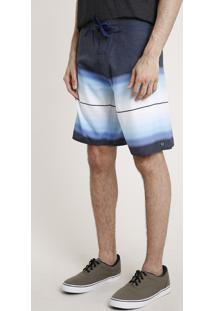 Bermuda Surf Com Estampa Degradê Azul