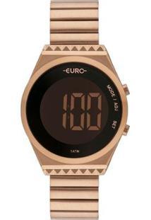 Relógio Euro Digital Fashion Fit Slim Eubjt016Ab/4J Feminino - Feminino