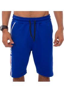 Bermuda Kings Sneakers Clean Moletinho Azul - Azul - Masculino - Dafiti