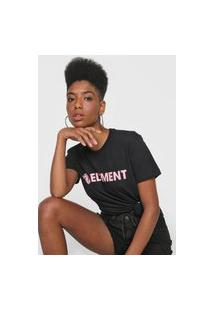Camiseta Element Logo Preta