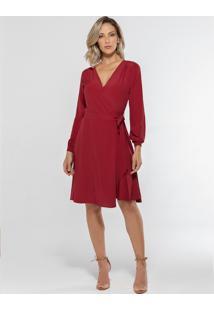 Vestido Transpassado Vermelho Nikki