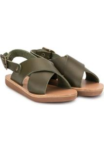Ancient Greek Sandals Sandália Com Tiras Cruzadas - Verde