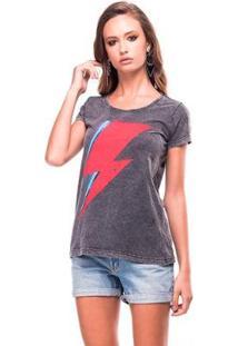 Camiseta Estonada Thunder Useliverpool Feminina - Feminino-Preto