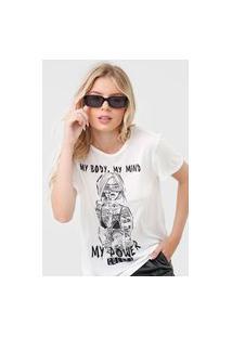 Camiseta Colcci My Power Off-White