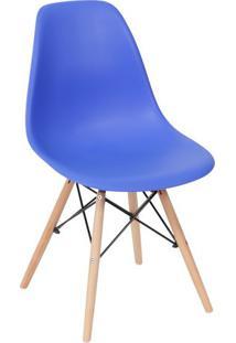 Cadeira Eames Dkr- Azul Escuro & Madeira Clara- 80,5Or Design