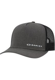Boné Aba Curva Oakley Chalten Cap - Snapback - Trucker - Adulto - Cinza  Escuro  ab1398b7237