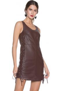 Vestido Leather Amarração