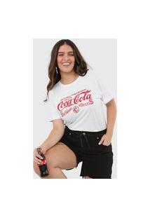 Camiseta Coca-Cola Jeans Aroma Branca