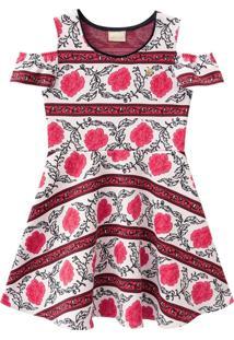 Vestido Rodado Estampado Milon Vermelho