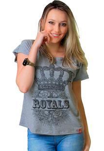 Camiseta Wevans Coroa Royals Cinza