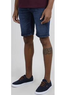 Bermuda Jeans Masculina Bbb C2C Relaxed Com Cordão Azul Escuro