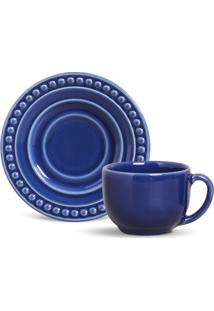 Xícara De Chá Com Pires Atenas Azul