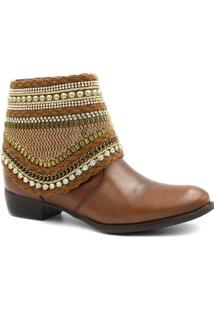Bota Cano Curto Zariff Shoes Ankle Boot Zíper Feminina - Feminino