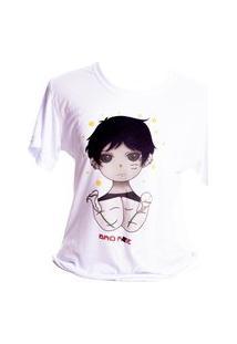 Camiseta Branca Prorider Bad Rose Personagem Autoral Nanami Nem Bib