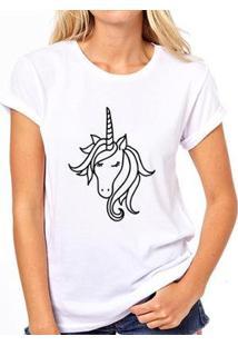 Camiseta Coolest Unicornio Feminina - Feminino-Branco