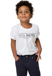 Camiseta Infantil Elemento Nobre Reserva Mini Masculina - Masculino-Branco