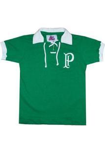 Camisa Liga Retrô Palmeiras 1914/15 Infantil - Masculino-Verde