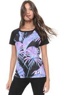 Camiseta Hurley Raglan Koko Preta