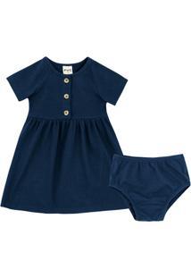 Vestido Bebê Em Malha Texturizada