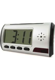 Relógio Despertador Com Mini Câmera 8Gb Empório Forte