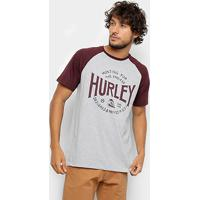 Camiseta Hurley Silk Raglan Hunting Masculina - Masculino b607b85685b